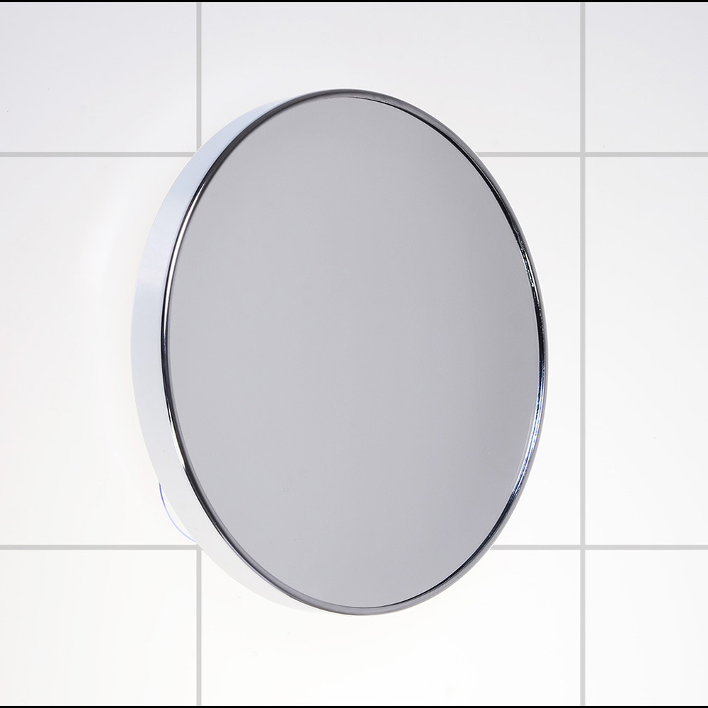 SpringQuan 8 inch metal mirror Suction cups on the wall bathroom ...