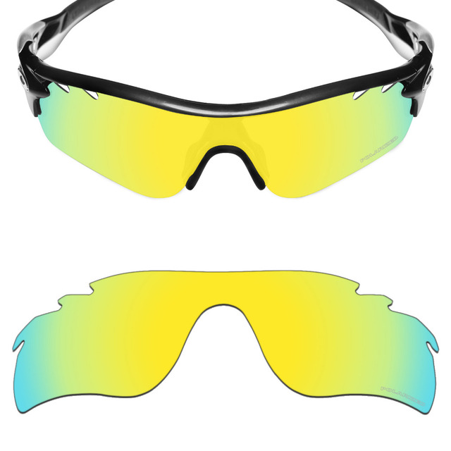1f462cefc9 Mryok+ POLARIZED Resist SeaWater Replacement Lenses for Oakley RadarLock  Path Vented Sunglasses 24K Gold