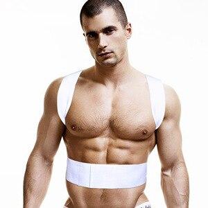 Image 1 - גברים גופיית כותנה זכר ספורטאי יציבה אפוד גופיית גברים גברים של אפוד הומו בגדי colete postura
