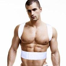 남성 언더 셔츠 코튼 남성 운동 선수 자세 조끼 언더 셔츠 남성 남성 조끼 게이 의류 colete postura