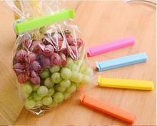 5pcs/Lot Colored Plastic Bag clip Plus size Sealer up for food flavoring trash pack Kitchen accessories Novelty household 8517
