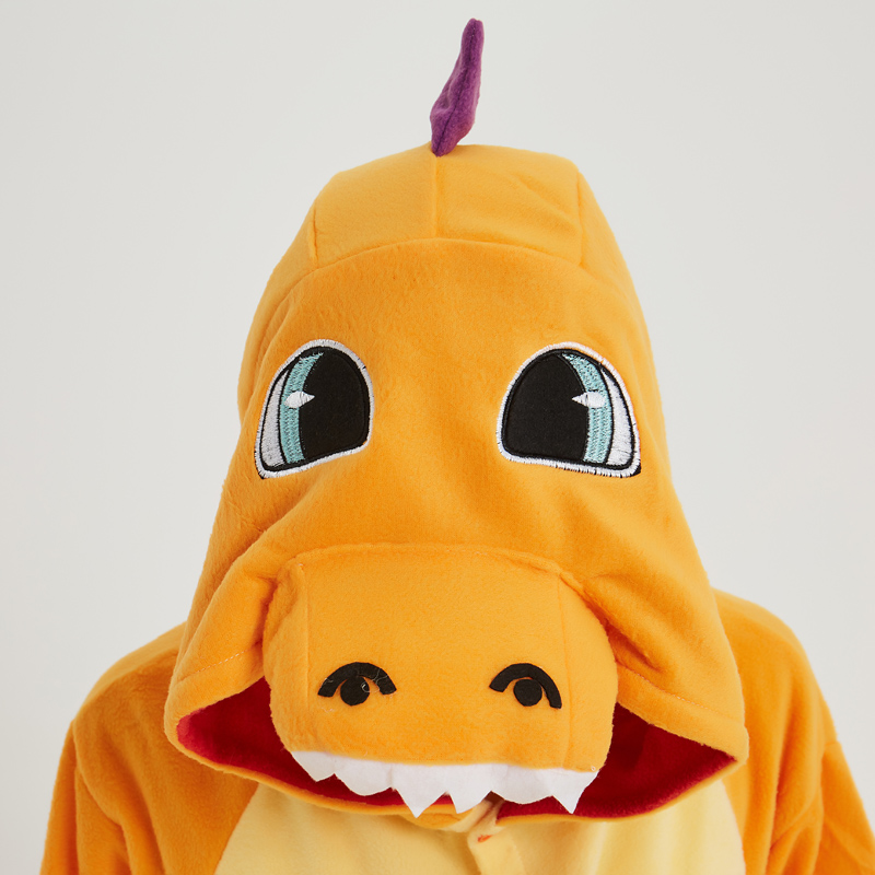 Pokemon Charizard Onesie Adult Women Men Pajamas Cartoon Animal Charmander Dragon Costume Party Winter Warm Cute Pyjama Sleep (1)