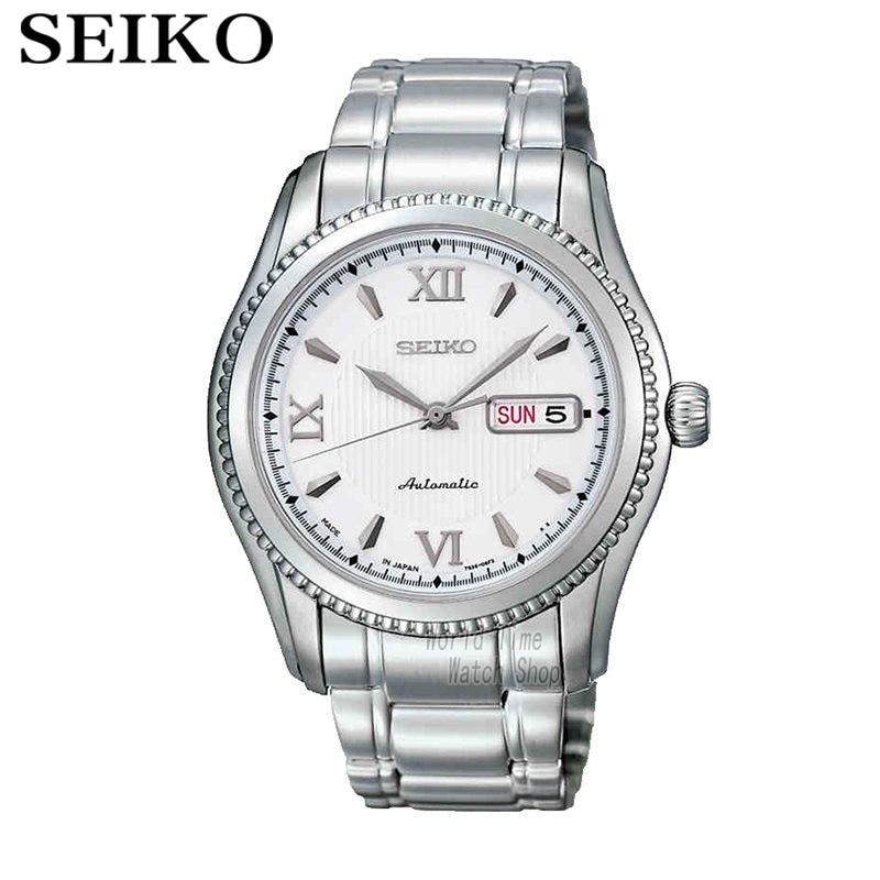 лучшая цена SEIKO Watch Business Leisure Week Calendar Steel Band Machinery Men 'S Watch SKZ309J1 SKZ316J1