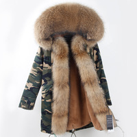 American 2017 Women Winter Fashion Long Camouflage Thick Jackets Coats Ladies Top Quality Casual Large Natural