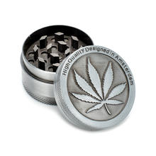 Silver Aluminum Alloy Grinders Metal Rasta Metal Tobacco Herb Spice Grinder Smoking Pipes 3Part Kaloud Shisha Hookah(China)