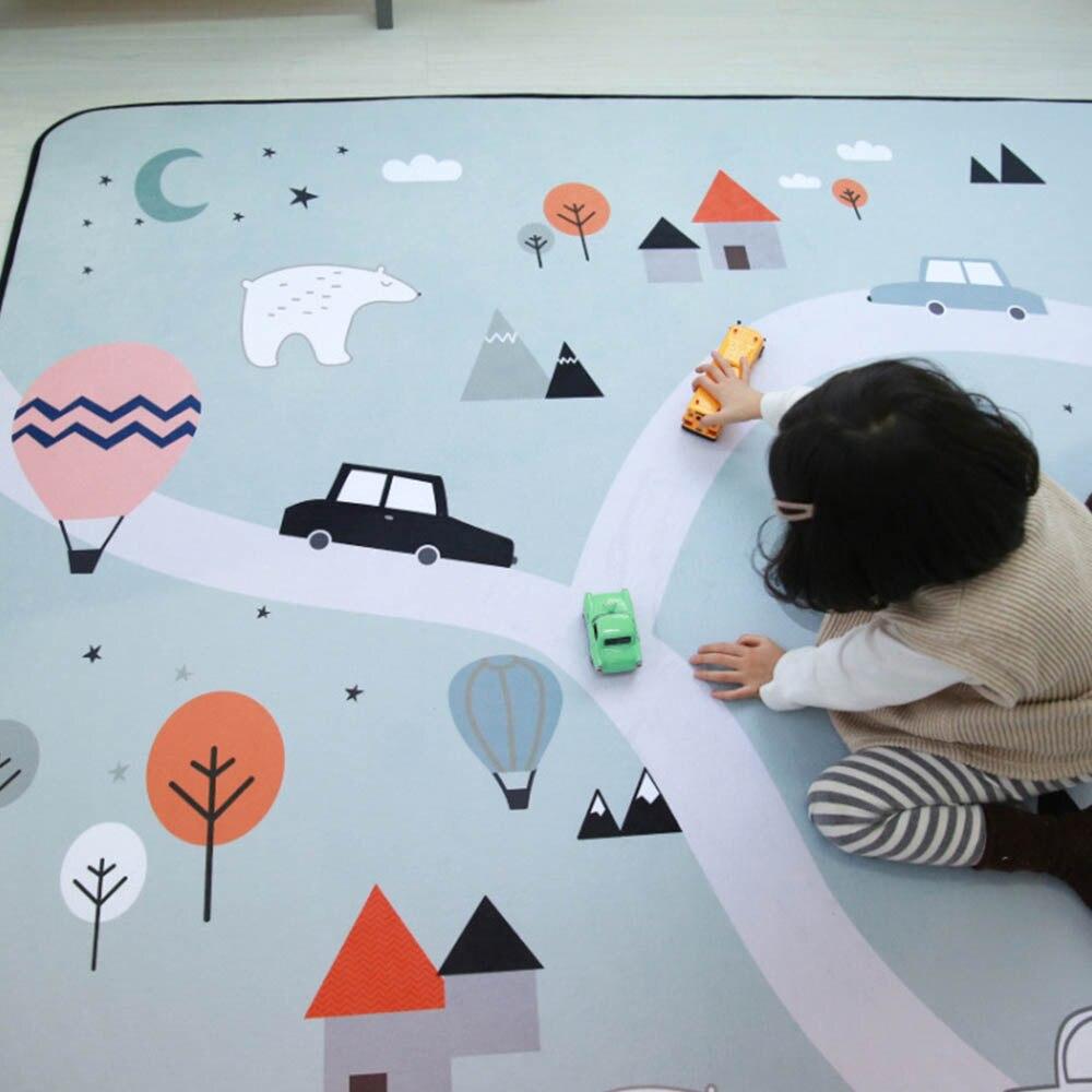 Puzzle extérieur tapis pour enfants épaissi bébé chambre ramper Pad 145*195 cm bébé coton tapis de jeu pliant tapis bébé tapis