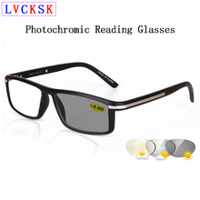 Retro Square Photochromic Reading Sunglasses magnifier For Women Men Fashion Rivets Presbyopia Spectacles Presbyopic Glasses N5