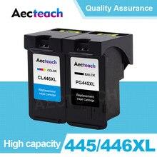Aecteach uyumlu PG 445 CL 446 XL mürekkep Canon için kartuş PG445 CL446 PG-445 MX494 MG 2440 2540 2940 2540S IP445 yazıcı
