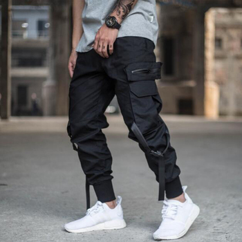 April MOMO 2019 Men Multi-pocket Harem Pants Trousers Men Streetwear Punk Cargo Pant Hip Hop Casual Trousers Joggers Hombre Cargo Pants