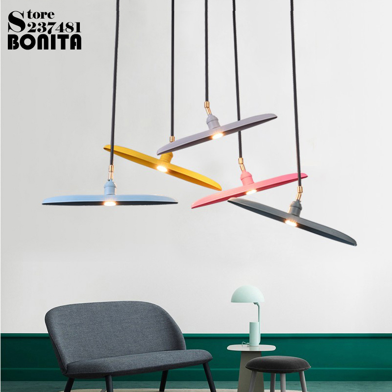 Northern Europe Modern Hanging Lamps Simple Iron Art Macaron Airplane Pendant lamp Colorful Led cord pendant lightNorthern Europe Modern Hanging Lamps Simple Iron Art Macaron Airplane Pendant lamp Colorful Led cord pendant light
