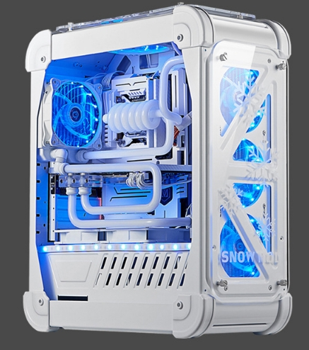 OEM DIY Water cooling case <font><b>i7</b></font> <font><b>7700k</b></font> 8/16GB RAM 120GB/1T GX1080 21.5/23.6/27 inch monitor Desktop game computer PC image