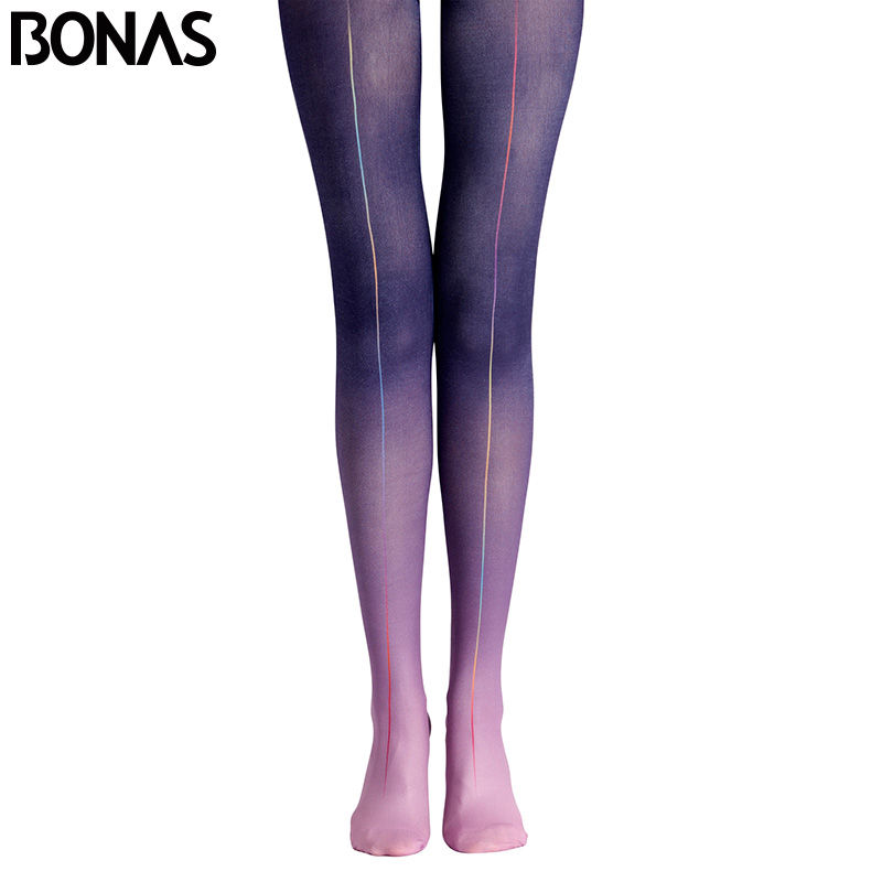 bonas new design pantyhose women high waist purple. Black Bedroom Furniture Sets. Home Design Ideas