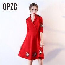 Red Fashion Simple Short Prom Dresses 2018 V-Neck Prom A-Line Formal Dress 2f795661c9cc