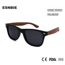ESNBIE New High Quality Wood Sunglasses Polarized Lens Men Women Driving Glasses Colored Lens Driving Eyewear Female Shades