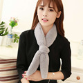 Stylish Korean Style Pure Color Faux Rabbit Fur Thickened Warm Soft Scarf Detachable Collar Fox Tail Shape Scarf  2016 Hot Sale