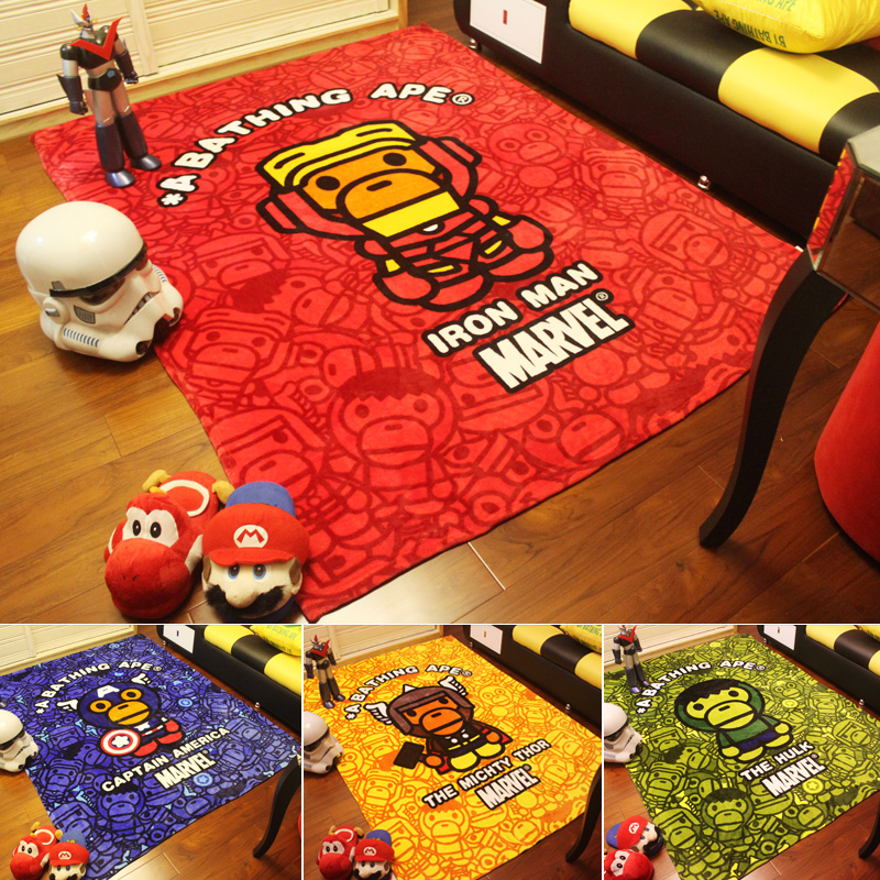 Bape Baby Milo blanket Super Soft Fleece Blanket on the bed Sofa Children, 150*200cm