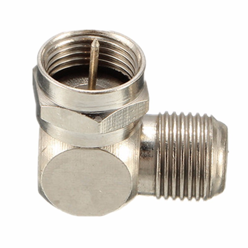 Tv Antenna Cable Connector F Type Male To Female Right Angle Adapter 90 Degree Coaxial