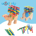Kids Toys Wooden Elephant/Camel Balancing Toy Beech Wood Blocks Game Toys For Children Montessori toys gift animal oyuncak