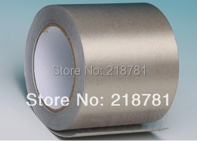 1x 65mm* 20M Single Sided Adhesive Electrically Conductive Adhesive Transfer Tape, EMI shielding tape 1x 60mm 40m 0 06mm single adhesive aluminum foil paper tape for heat transfer emi shielding bga soldering protecting