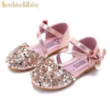 Sunshine   Rainy Children s Princess Shoes For Girls Bowtie Rhinestone  Sandals 2018 Summer Teenagers Casual Shoes Kids Footwear cb85ef242b82
