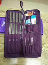 New 2015 knitting needle bamboo set single and double point needles circular 6113