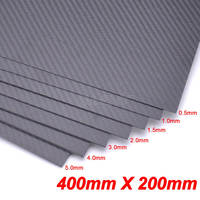 100% Real 3K Carbon Fiber Plate Panel Sheet 400mm x 200mm 0.5mm 1mm 1.5