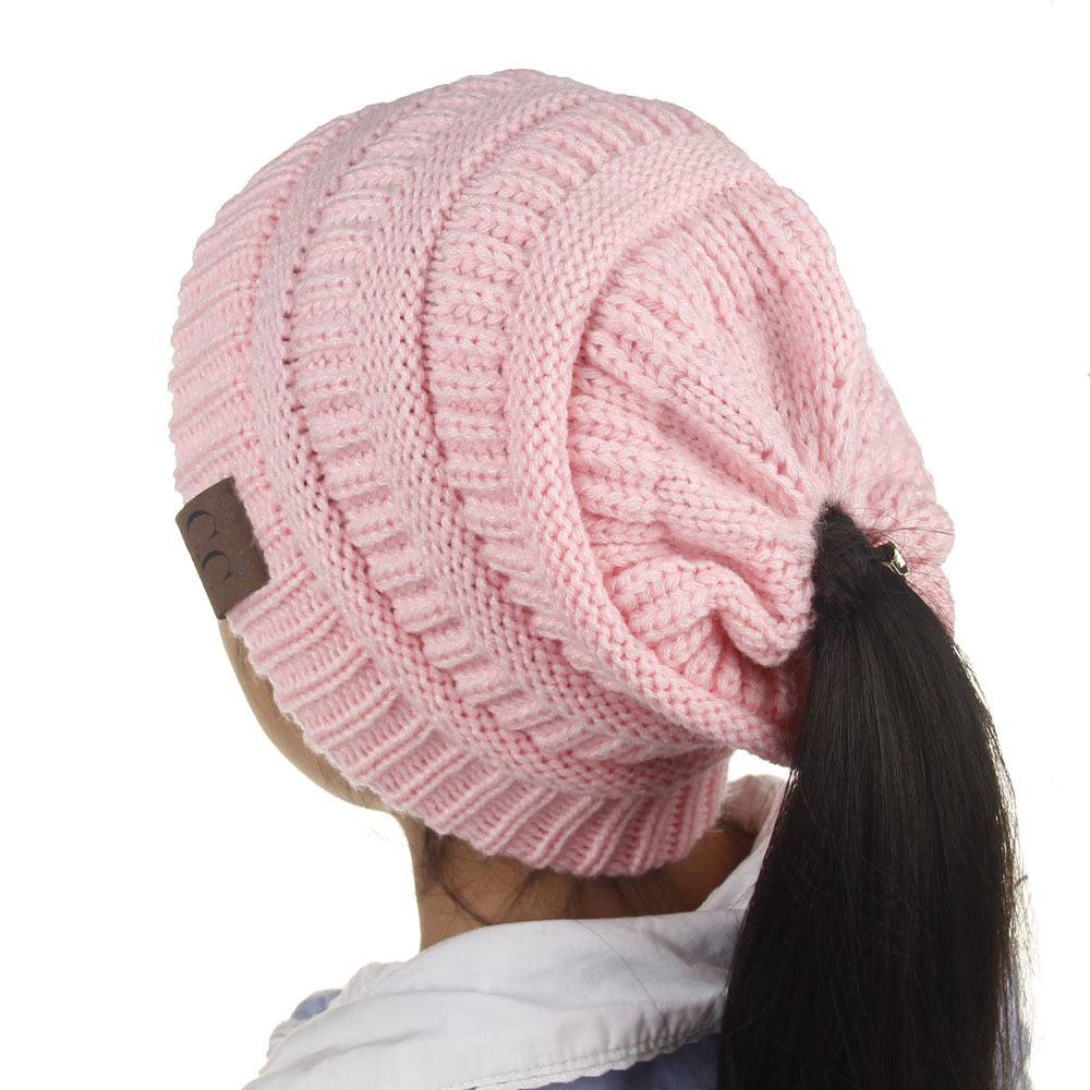 New Arrival Candy Colors Kids Hat Winter Autumn Knitted Beanies Casual Pink Skullies Beanies Girls Warm Caps for Children