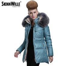 skinnwille Thickening coat winter jacket women down jacket women 2016 fur coat parka fur Warm coat abrigos mujer invierno