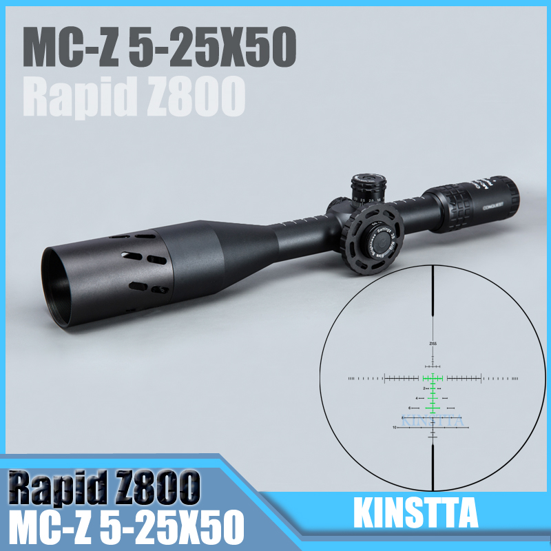 HLURKER Tactical 5 25X50 FFP Rapid Z800 Optics Riflescope Side Parallax Scopes Rifle Scope For Airsoft Sniper Rifle Hunting