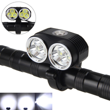 10000LM 6x XML T6 LED Front Head Bicycle Bike Front Cycling Light Lamp Head Headlight Black