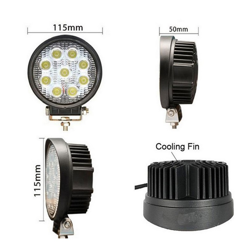 Strict Bbq@fuka 2x 27w Led Work Light Round Spot 2450lm Driving Truck Boat Suv Lamp Fit For Jeep Cherokee Wrangler Compass Ect Nourishing Blood And Adjusting Spirit Light Bar/work Light
