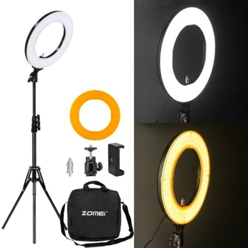 Zomei Photographic Lighting 14 41W LED Ring Light Camera Photo Studio Phone Video Phone holder Tripod