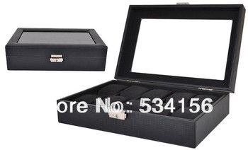 Black luxury leather jewelry  box