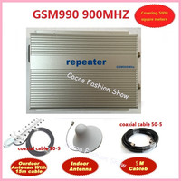 Direct Marketing sunhans 3w GSM990 GSM 900Mhz cell phone gsm booster coverage 5000square singnal booster repeater free shipping