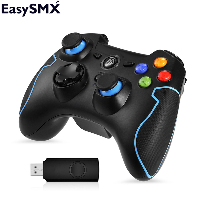 EasySMX ESM-9013 Беспроводной геймпад Джойстик для ПК PS3 ТВ коробки Андроид-смартфона Контроллер с кнопкой TURBO