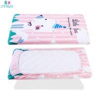 Вязание хлопок детская кроватка для младенца Простыня из мягкой дышащей детские наматрасник Potector постельные принадлежности для новорожде...