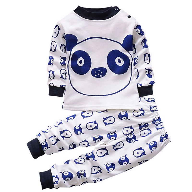 Long Sleeve Graphic Tee PJ Set Pjs Little Boys 2 Piece Thermal Pajamas Kids Baby Boys Infant Jersey Set newborn Pant set kitten