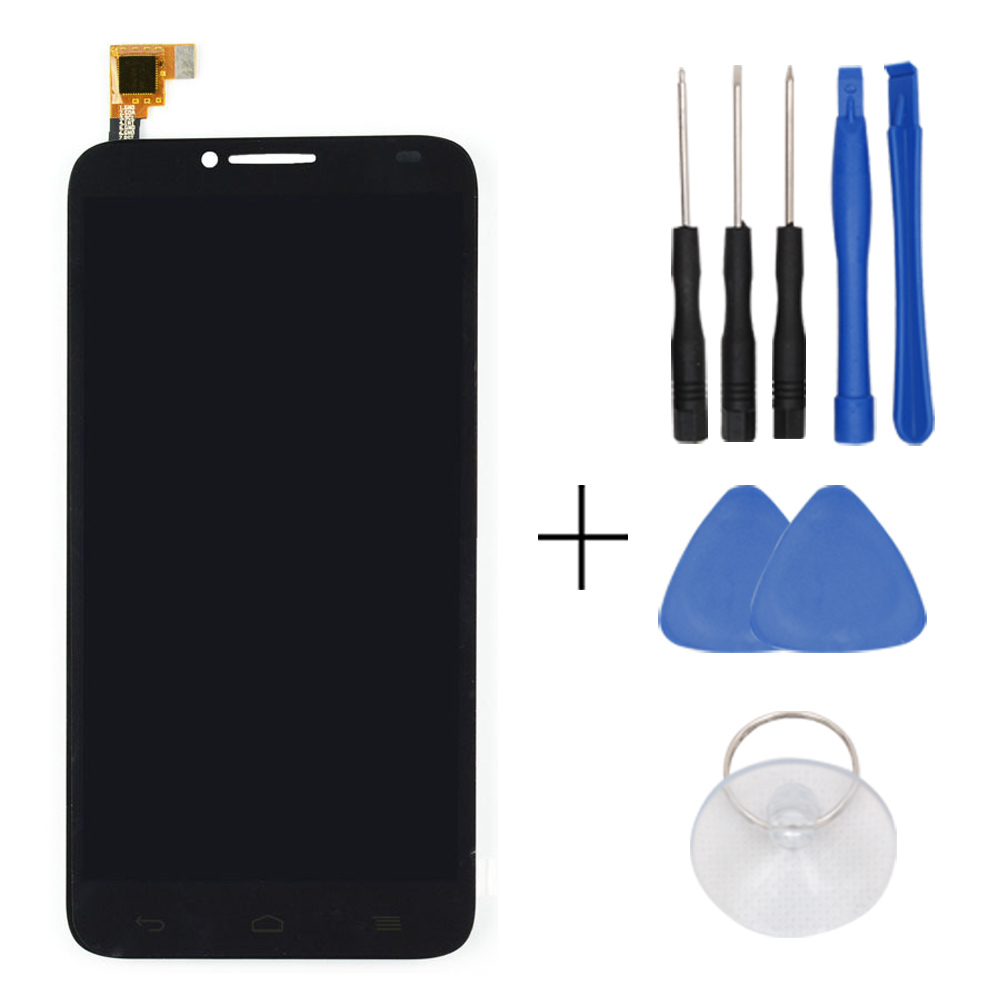 In Stock Original Black For Alcatel 6037 LCD Display And Touch Screen Assembly Free Shipping + Tools + Track Number