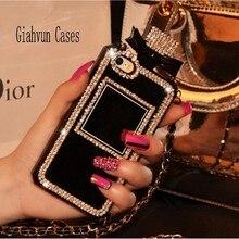 Couverture de chaîne de lanière de diamant de cristal de Bling pour Samsung Galaxy S10 S20 plus S9 E + NOTE 9 10 pour liphone 6 7 8 11 étui de téléphone Pro