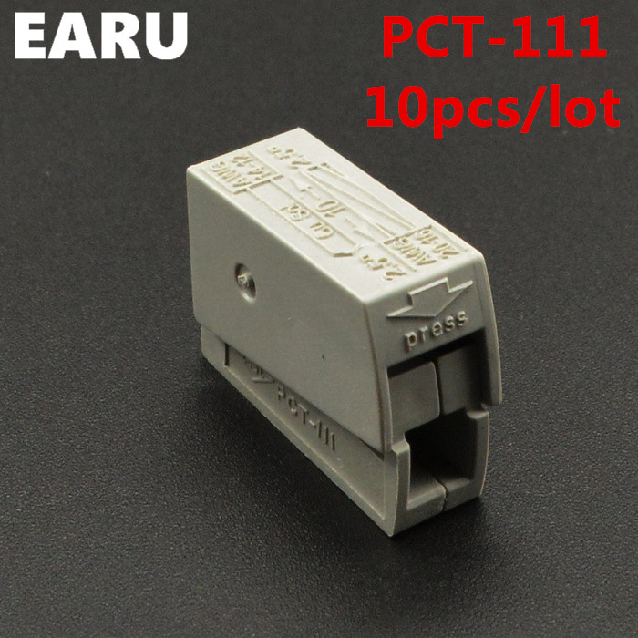 10PCS PCT-111 PCT111 WAGO 224-101 Single 1 pin cable wire wiring connecting connector connectors for lamp durable hard Compact