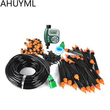 25m 8/11 Garden DIY Micro Drip Irrigation System Plant Self Automatic Watering Timer Garden Hose Kits with Adjustable Dripper - DISCOUNT ITEM  20% OFF All Category