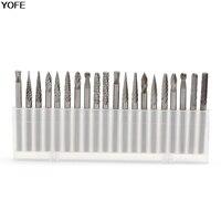 20Pcs Set 1 8 3mm Tungsten Carbide Cutter Rotary Burr Set CNC Engraving Bit