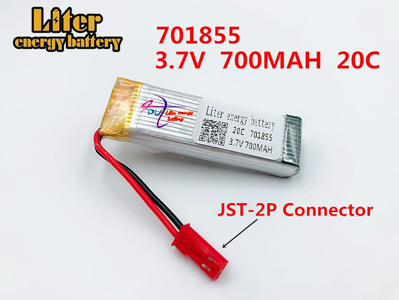 3.7V 700mAh Drone Rechargeable Li-polymer Battery <font><b>701855</b></font> + Charger Set For RC UDI RC u817 u817a u817c u818a Syma s032 image