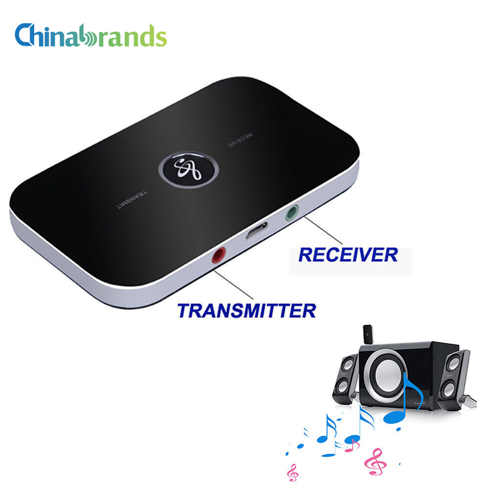 2 IN 1 Bluetooth 4.1 Receiver and Transmitter B6 Bluetooth Wireless Adapter HIFI Audio With 3.5MM AUX Audio For Home TV MP3 PC