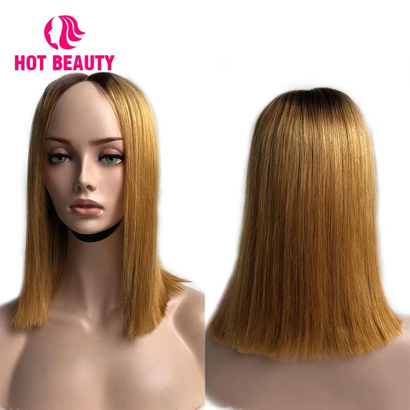 Hot Beauty Hair Glueless Snörning Front Mänskliga Hårperor Med - Mänskligt hår (svart) - Foto 4