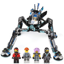 Lepin 06054 Ninjagoing Movie Water Strider anime action Figures Building Blocks Bricks Toy Kids Gifts Compatible With lego 70611