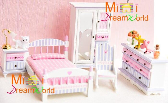 ФОТО Cute MINI Dollhouse Miniature Furniture accessories dollhouse Bedroom furniture