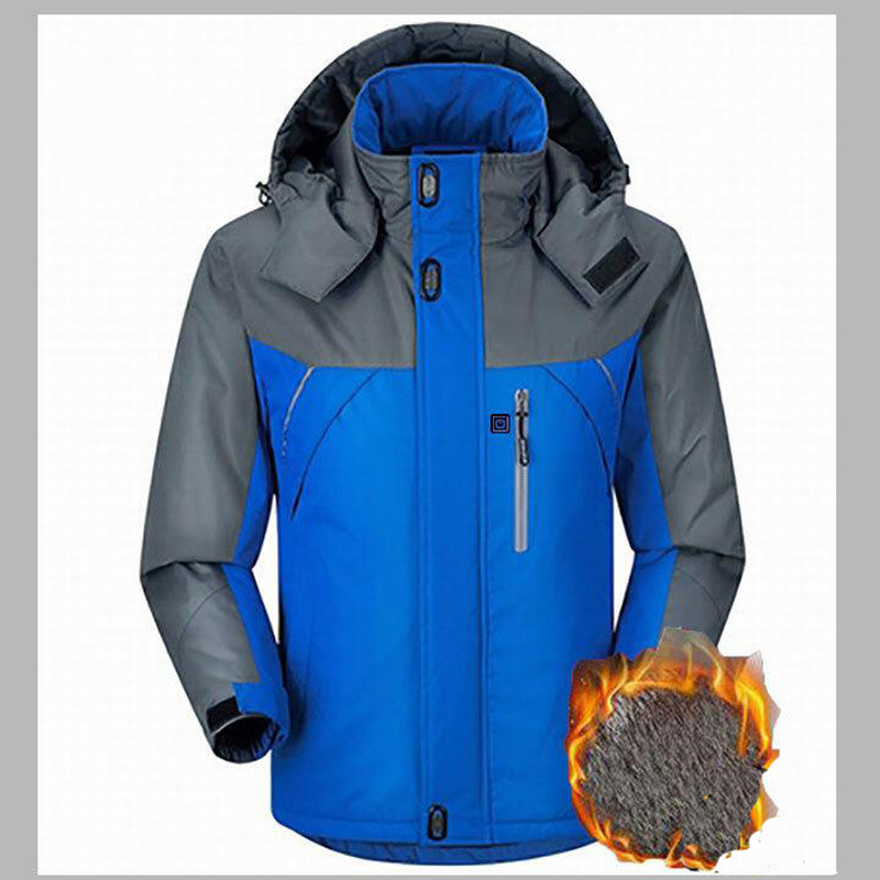 Image 2 - Unisex Winter Outdoor Intelligent USB Work Hooded Heating Jacket Coats Adjustable Temperature Control Safety Clothing DSY0010-in Safety Clothing from Security & Protection