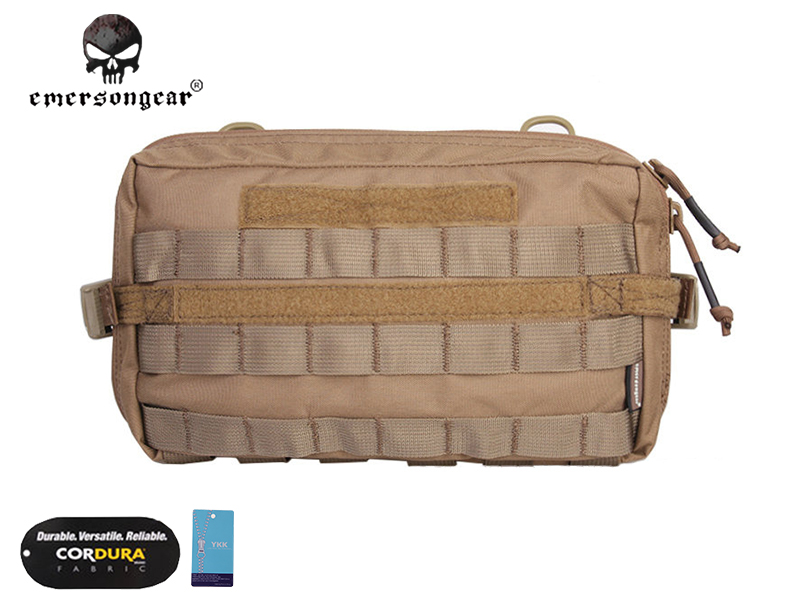 ФОТО Emersongear Tactical Fight Multi-functional Utility Pouch Emerson Nylon Waist Bag Combat Gear EM8347 Coyote Brown Multicam AOR