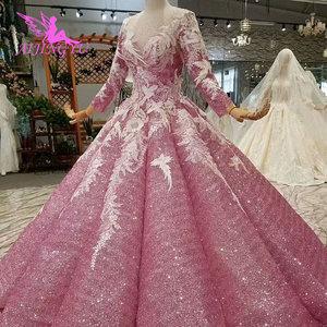 Image 3 - AIJINGYUมุสลิมชุดแต่งงานเม็กซิกันเจ้าหญิงลูกสั้นสีขาวเซ็กซี่ชุด2021 2020งานแต่งงานและชุดเจ้าสาว